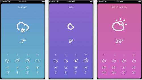 Wetter Apps fürs iPhone, Sky