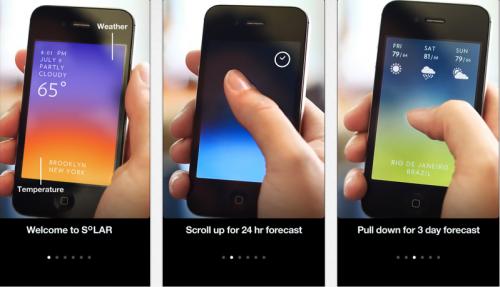 Wetter Apps fürs iPhone, Solar