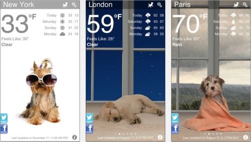 Iphone Wetter Apps Weather Puppy